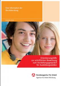 Cover der Orientierungshilfe zur schriftlichen Bewerbung
